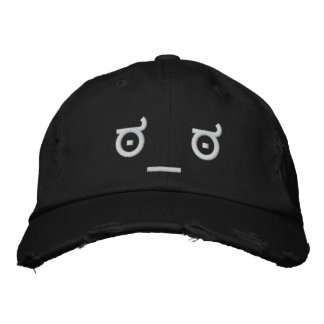 Disapproval Face Embroidered Hats