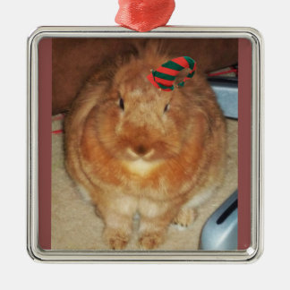 Disapproving Bunny Rabbit Elf Ornament