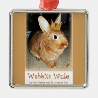 Disapproving Bunny Rabbit Wabbits Wule Ornament