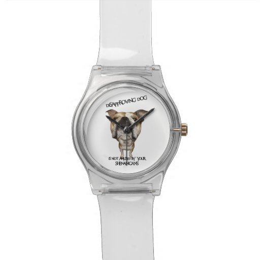 Disapproving Dog Bulldog Not Amused by Shenanigans Wristwatches
