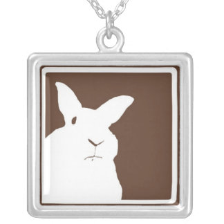 Disapproving Rabbits Brown Necklace