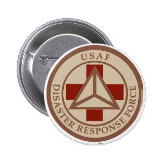 Disaster Response Force (Desert Camo) 6 Cm Round Badge