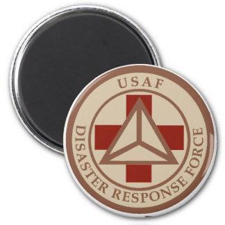 Disaster Response Force (Desert Camo) 6 Cm Round Magnet