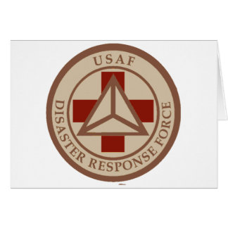 Disaster Response Force (Desert Camo) Greeting Card
