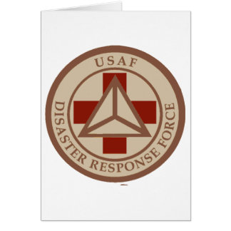 Disaster Response Force (Desert Camo) Greeting Cards