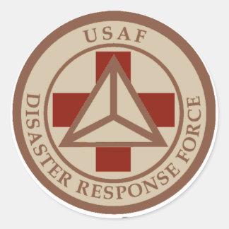 Disaster Response Force (Desert Camo) Round Sticker