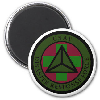 Disaster Response Force (Woodland Camo) 6 Cm Round Magnet