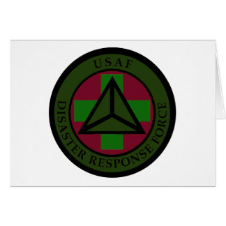 Disaster Response Force (Woodland Camo) Greeting Card