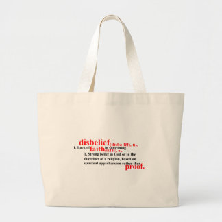 Disbelief Definition Jumbo Tote Bag