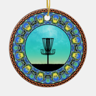 Disc Golf Abstract Basket 5 Christmas Ornament
