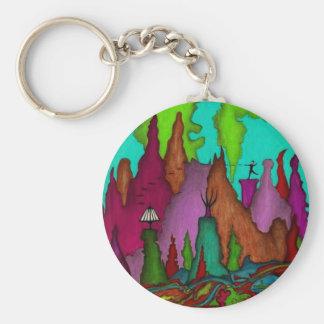 Disc Golf Art Bag Tag-Key Chain Key Ring
