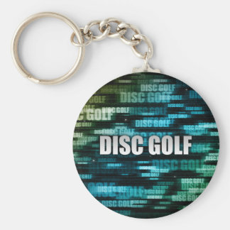 Disc Golf Basic Round Button Key Ring