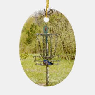 Disc Golf Basket 7 Christmas Ornament