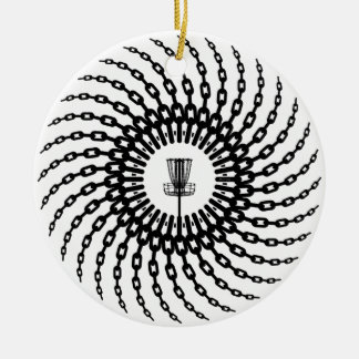 Disc Golf Basket Chains Christmas Ornament