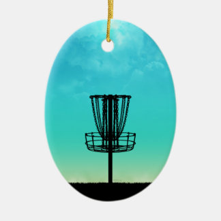 Disc Golf Basket Christmas Ornament