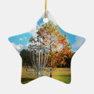 "Disc Golf Basket ""Fall in Florida Christmas Ornament"