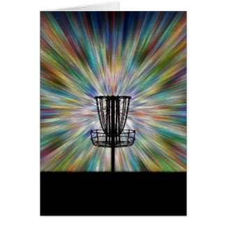 Disc Golf Basket Silhouette Card