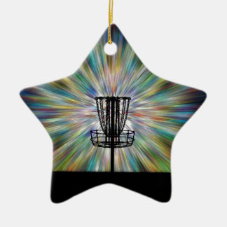 Disc Golf Basket Silhouette Christmas Ornament