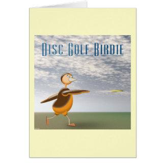 Disc Golf Birdie Greeting Card