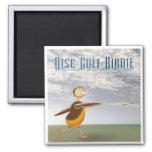 Disc Golf Birdie Square Magnet