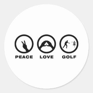 Disc Golf Classic Round Sticker