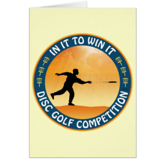 Disc Golf Competition Greeting Card