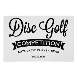 Disc Golf Player Gear Posters