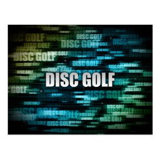 Disc Golf Postcard