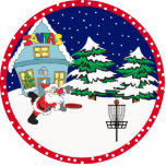 Disc Golf Santa Ornament Photo Sculpture Decoration