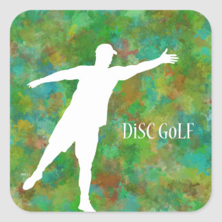 Disc Golf Square Sticker