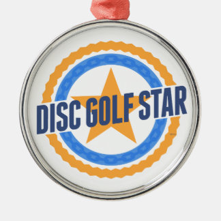 Disc Golf Star Christmas Ornament
