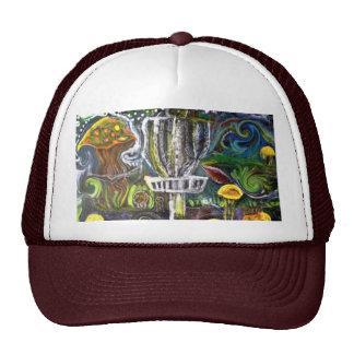 disc golf trip hat .. artwasteland studios