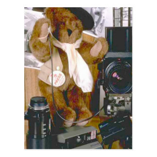 Disc Jockey bear Postcard
