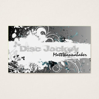 Nail technician clothing business cards business card printing disc jockey business card grunge splatter gray reheart Gallery