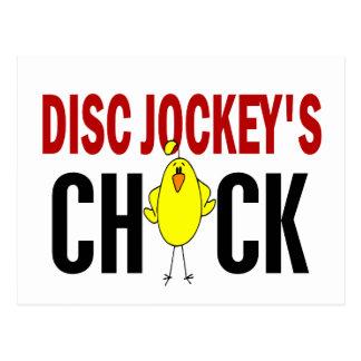 Disc Jockey's Chick 1 Postcard