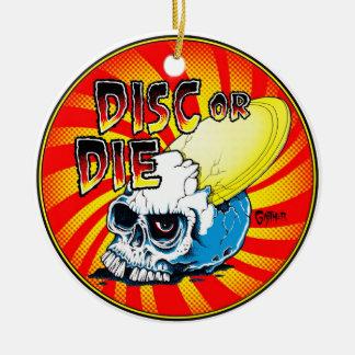 Disc Or Die Christmas Ornament