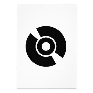 Disc vinyl icon invite