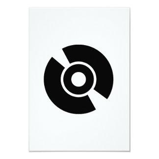 Disc vinyl icon 3.5x5 paper invitation card