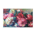 Discarded Roses Flower Painting Renoir Fine Art Stretched Canvas Prints