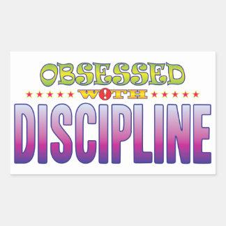 Discipline 2 Obsessed Rectangular Sticker