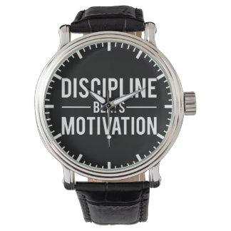 Discipline Beats Motivation - Inspirational Watch