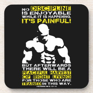 DISCIPLINE - Bodybuilding Workout Motivational Beverage Coasters