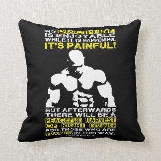DISCIPLINE - Bodybuilding Workout Motivational Throw Pillow