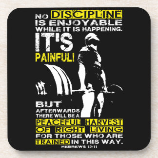 DISCIPLINE - Deadlift Workout Motivational Coaster