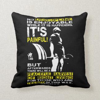 DISCIPLINE - Deadlift Workout Motivational Throw Pillow