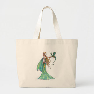 Discipline Green Fairy Dragon by Molly Harrison Jumbo Tote Bag