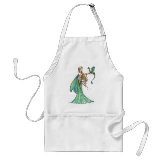 Discipline Green Fairy Dragon by Molly Harrison Standard Apron