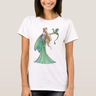 Discipline Green Fairy Dragon by Molly Harrison T-Shirt