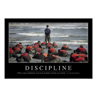 Discipline: Inspirational Quote Poster
