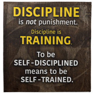 Discipline Is Training - Workout Gym Inspirational Napkin
